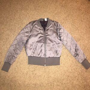 Purple satin jacket